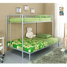 Twin-over-full Metal Bunk Bed, Multiple Colors