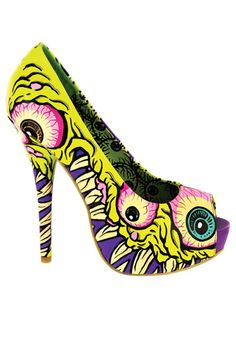 I See You peep toe platform shoes #sexy #highheels #scary #eyes