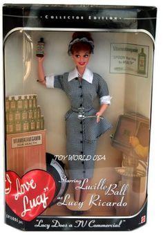 Bildresultat för lucille ball barbie doll