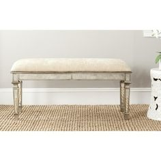 @Overstock.com - Safavieh Layla Beige Mirrored Bench - Glamour is the art of adornment, and the Layla bench is the perfect place for sitting pretty. Its solid birch construction and 100 cotton fabric belie its delicate decorative mirrored design.  http://www.overstock.com/Home-Garden/Safavieh-Layla-Beige-Mirrored-Bench/7827728/product.html?CID=214117 NZD              361.00