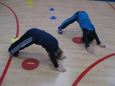 Yoga games playing with large groups: practicing Downward-Facing Dog Pose | Kids Yoga Stories