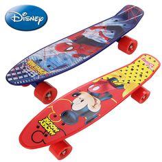 "22"" Plastic Mini Cruiser Hello Kitty Skateboard Long Board Banana Retro Skate Longboard Spider-Man Printed Children's scooter"