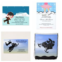 #wintersport theme. Available in different products#invitations #businesscards etc. Feel free to check at www.zazzle.com/celebrationideas or www.zazzle.com/graphicdesign  #iceskating #snowmobile #winter #sports