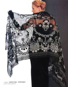 Russian Crochet Patterns Book Poncho Shawl Dress Cardigan Fashion Magazine 549