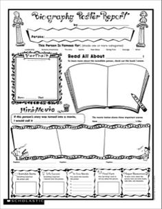 Biography Report: Fill-in Poster