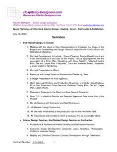 Sample Interior Design Contract Form Template   Document   Pinterest