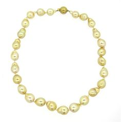 18K Gold South Sea Golden Baroque Pearl Necklace Featured in our upcoming auction on December 14, 2015 11:00AM EST!