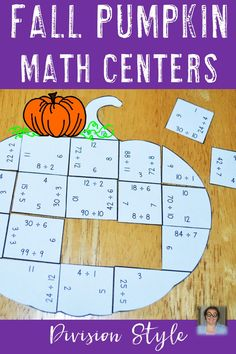 These Multiplication Pumpkin Puzzles are great for fall math centers, Halloween… Third Grade Math, Fourth Grade, Thinking Skills, Critical Thinking, Math Classroom, Classroom Activities, Halloween Math, Halloween Division, Thanksgiving Math Worksheets