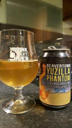 Beavertown Yuzilla Phantom Berliner Weisse. Watch the video beer review here www.youtube.com/realaleguide   #CraftBeer #RealAle #Ale #Beer #BeerPorn #BeavertownBrewery #Beavertown #BeavertownYuzillaPhantom #YuzillaPhantom #BerlinerWeisse