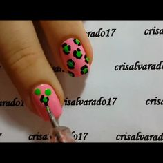 Play ▶ Neon leopard print tutorial  Products: Pink: @madam_glam 'Sweet call' Green: #madamglam 'Mint cocktail' Acrilyc paints in black #MiaSecret Fast dry top coat  Dotting tool  Song: Azealia Banks '212'  Video: I record with my Samsung Galaxy Note 3 and edit it in the computer with Windows Movie Maker    Play ▶ Tutorial de leopardo neón  Productos: Rosado: @madam_glam 'Sweet call' Verde: #madamglam 'Mint cocktail' Pinturas acrílicas en negro #MiaSecret brillo secante
