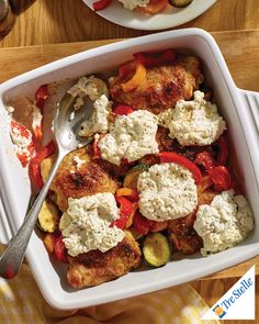 Start the year off with a big bang, a little effort and a lot of delicious taste. Sauteed Peppers, Entree Recipes, Yummy Eats, Cooking Time, Ricotta, Entrees, Casserole, Dishes, Chicken