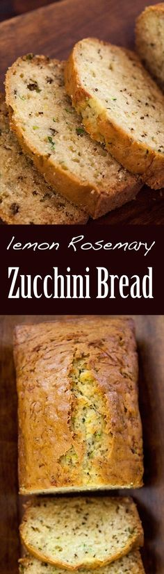 Wonderful zucchini bread! Sweet with hints savory from rosemary and lemon. A fun twist on a classic! On SimplyRecipes.com