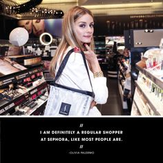 """BLACK BAG: OLIVIA PALERMO'S BEAUTY ESSENTIALS The fashion icon shares her top ten picks from Sephora. Olivia Palermo is the definition of a girl crush, from head to toe. Yes, she can accessorize an outfit with serious finesse, but she's also known for her chic beauty look. """"I am definitely a regular shopper at Sephora, like most people are,"""" Palermo said at the reopening of our 750 Lexington Avenue store in New York. """"They carry my dermatologist, Dr. Dennis Gross, so it's always nice to kind…"""