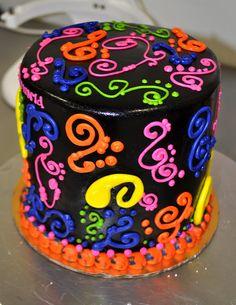 Neon Glow Cakes For Birthdays Neon Birthday Cakes For Teenagers - Neon birthday party cakes