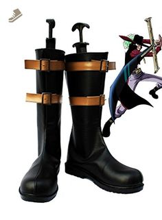 One Piece Anime Dracule Mihawk Cosplay Shoes Boots Custom Made 1 - Telacos sneakers for women (*Amazon Partner-Link)