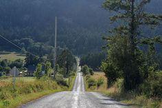 Country road. Orcas Island, Washington.