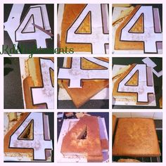 Simple Step in carving out number cakes...
