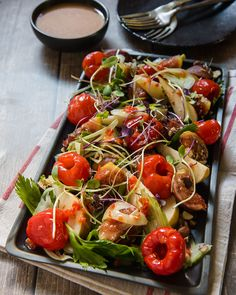 Try our Autumn Salad Recipe chock full of beautiful fall ingredients, pears, figs, walnuts, celery & a delicious home-made sweet piquanté pepper dressing. Salad Dressing Recipes, Salad Recipes, Micro Herbs, Chock Full, Recipe Link, Salad Ingredients, Recipe Today, Figs, Pears