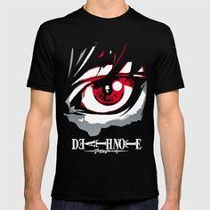 T-SHIRT BLACK MEDIUM MENS FITTED TEE #DeathNote #LightYagami #Anime