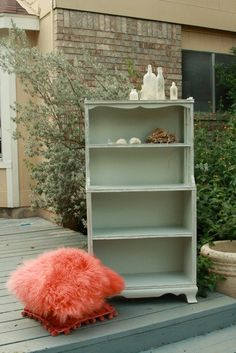 medio gris, medio azul... Cottage Blue Vintage Bookcase