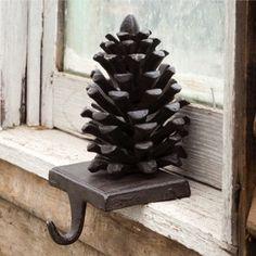 Cast Iron Hooks | Pine Cone Stocking Hooks | Mantle Hooks | Pine Cone Hooks