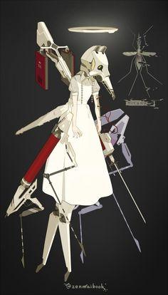 Game Character Design, Fantasy Character Design, Character Design References, Character Drawing, Character Design Inspiration, Character Concept, Cyberpunk Character, Cyberpunk Art, Robot Concept Art