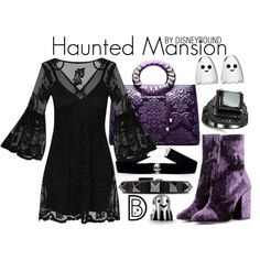 Hunted mansion, disneybound. Love the dress