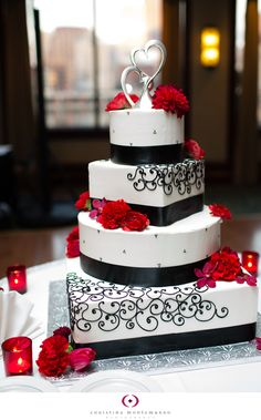 Red and Black Wedding Details