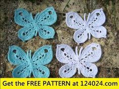 Easy crochet butterfly for beginners