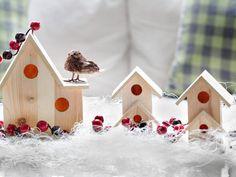 Birdhouse Vignette - 10 Rustic-Chic Holiday Decorating Ideas on HGTV