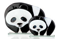 FUSED GLASS PANDA BEAR