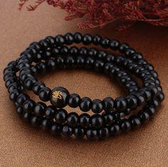 Black Sandal Wood Prayer Beads