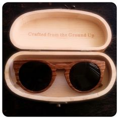 Vegan Fashion Los Angeles Proof Wood Sunglasses Kim Vilyus