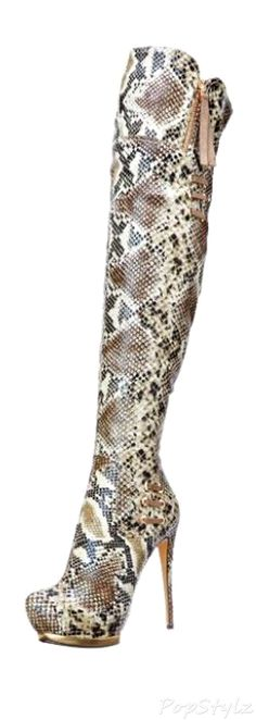 Luichiny May La Snake Boot...I don't know if they are trashy or fashionable...but I like 'em!