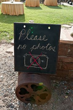 """Please no photos ... how to let guests know you're having an """"unplugged wedding"""""""
