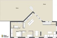 Click LIKE if you think this large back deck would be great for a beach house!   Design your own beach house paradise in 2D or 3D:  http://planner.roomsketcher.com/?ctxt=rs_com  2D floor plan for a home with a large back deck and stairs designed in RoomSketcher by tennebekk  #floorplan #floorplans #homes