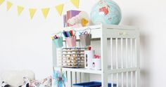 5 brilliant ways you can recycle an old changing table, because waste not want not Cribs, Magazine Rack, Recycling, Interiors, Canning, Cabinet, Storage, Bed, Table