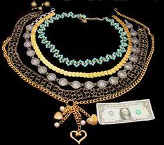 Vintage 80's belt lot-old 1980's belt collection-vintage coin belts-vintage ladies belt lot-blue bead belt-gypsy metal rings belt-heart belt by BECKSRELICS on Etsy