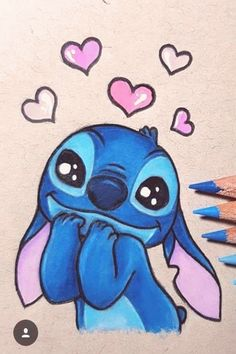 Most current No Cost drawing disney stitch Ideas Many people start drawing because they're attracted by the look of a common characters—and often Cute Disney Drawings, Cool Art Drawings, Pencil Art Drawings, Art Drawings Sketches, Kawaii Drawings, Drawing Disney, Drawing Ideas, Drawings Of Stitch, Disney Character Drawings