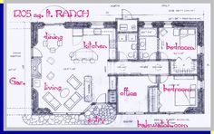 a straw bale house plan, 1202 sq. ft.