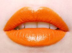 Orange Lips #makeup, #lips, #pinsland, https://apps.facebook.com/yangutu