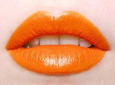 Orange Lips #makeup, #lips, #pinsland, https://apps.facebook.com/yangutu