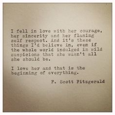 F. Scott Fitzgerald Framed Love Quote Made On Typewriter