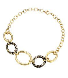 Faraone Mennella: gold and animal-print necklace