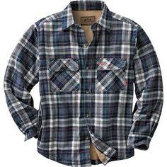 Legendary WhiteTails: Men's Deer Camp Fleece Lined Button Down Shirt Jacket 3XL