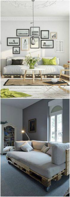 Sofá de palets. Visto en www.ecodecomobiliario.com