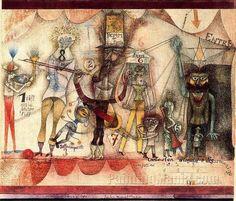 Paul Klee, Music At The Fair 1924 on ArtStack #paul-klee #art