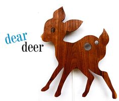 Unique Dear deer retro light lamp baby childrens room woodland cute