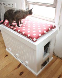 MyFixItUpLife: Make a cat litter box that doubles as a bench