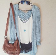 29 original Catchy Summer Outfit Ideas to Upgrade Your Look – Fashion Love Mode Outfits, Casual Outfits, Fashion Outfits, Outfits 2016, Fashion Clothes, Teen Outfits, Casual Bags, College Outfits, Trend Fashion